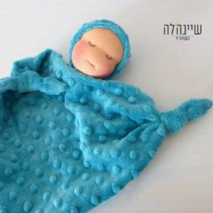 בובת וולדורף לתינוק עיניים עצומות